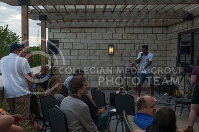 Dapper Yung Lad preforms during the Mid by Midwest music festival in Manhattan, Kan. on June 24, 2017. A lineup of over 20 performanced on two stages at the top floor of Bluemont Hotel. (Justin Wright | The Collegian)