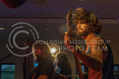 Terror Tractor preforms during the Mid by Midwest music festival in Manhattan, Kan. on June 24, 2017. A lineup of over 20 performanced on two stages at the top floor of Bluemont Hotel. (Justin Wright | The Collegian)