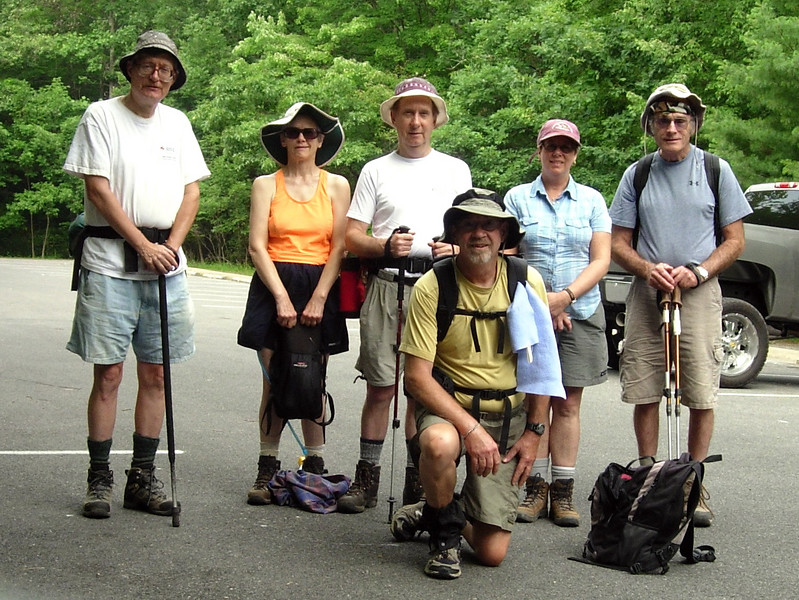 One of the smallest Midweek hiking groups.