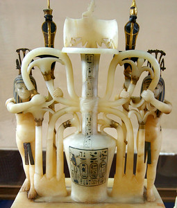 symbolic (upper egypt, lower egypt - everything in this alabaster sculpture has a meaning)