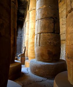 solitary karnak temple
