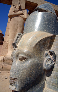 what topples down may some day be re-righted (stoned head  aspect) the ramesseum, west bank