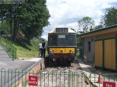 The DMU on Ropley shuttles