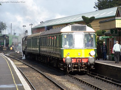 The DMU (with steam) at Ropley