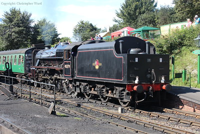 45379 prepares for an up departure at Ropley