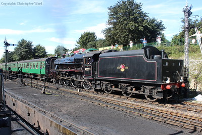 45379 gets to grips with her train