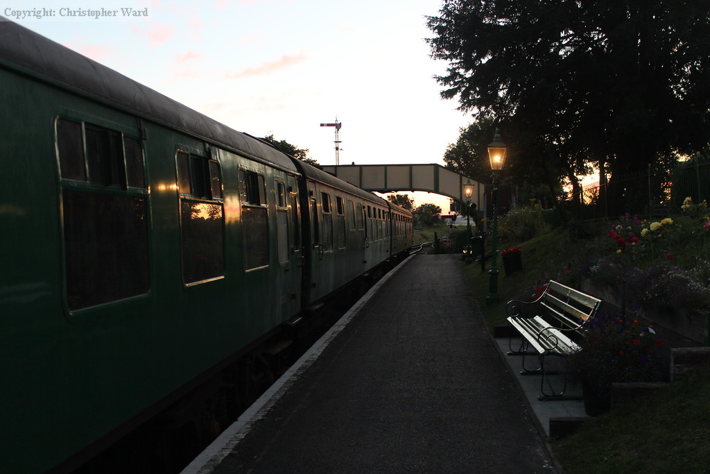 Berthed stock sits in Platform 1 at Ropley