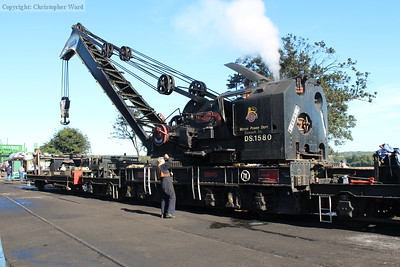 DS1580, the resident steam crane, during a yard demonstration