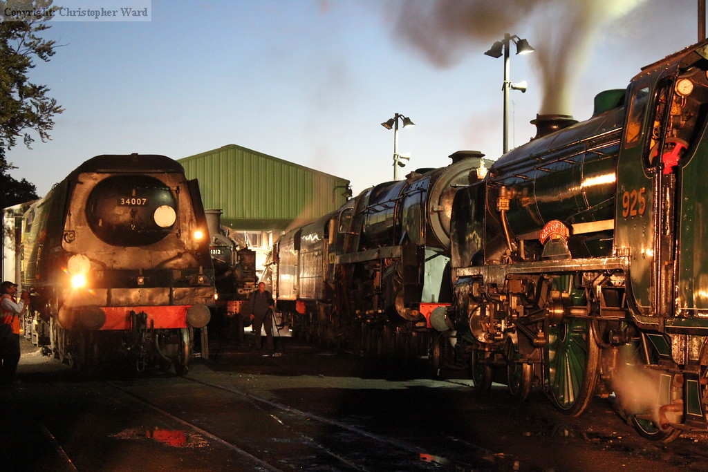 925, 92212 and 34007 rub shoulders under the lights