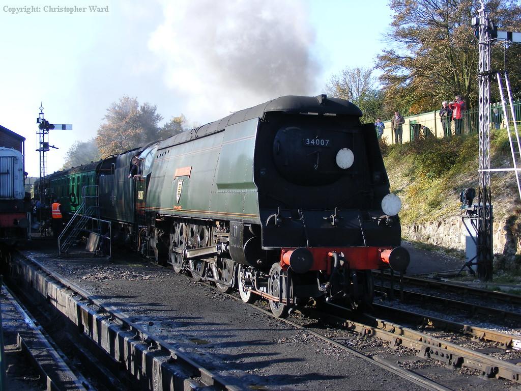 Wadebridge shunts the local train into the headshunt