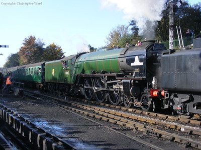 Tornado assists Britannia out of Ropley