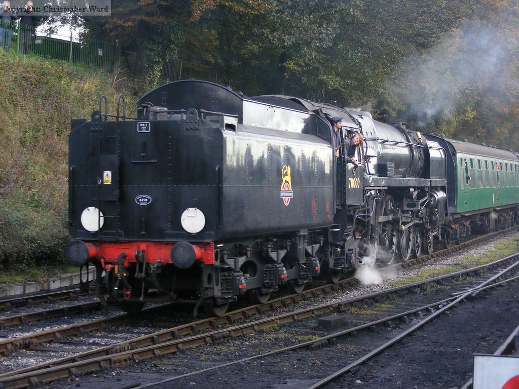 Britannia arrives from Alton