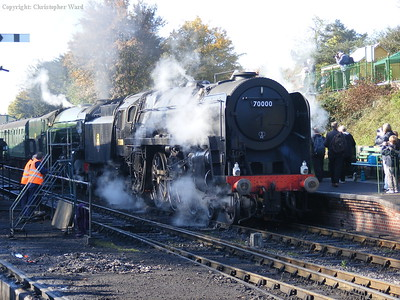 Britannia leads Tornado at Ropley