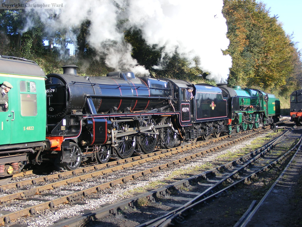45379 assists the Lord out of Ropley