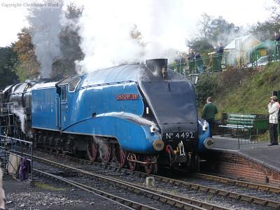 4492 leads Britannia into Ropley