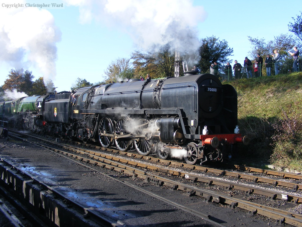 70000 and 60163 get away from Ropley