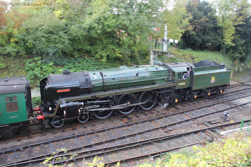 Britannia brings another service from Alton into the station