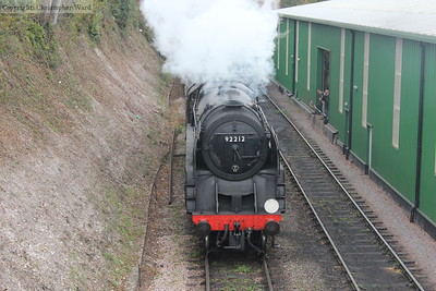 92212 with the freight about to pass through Ropley without stopping