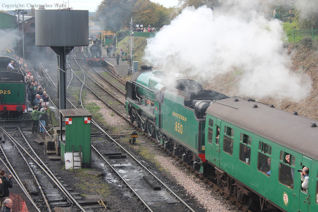 Lord Nelson providing a much-needed Southern influence in an otherwise GWR dominated gala