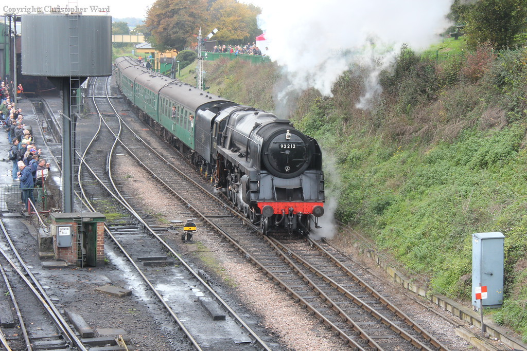92212 gets to grips with her train, no real challenge for a 9F