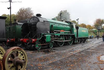Cheltenham in light steam at Ropley