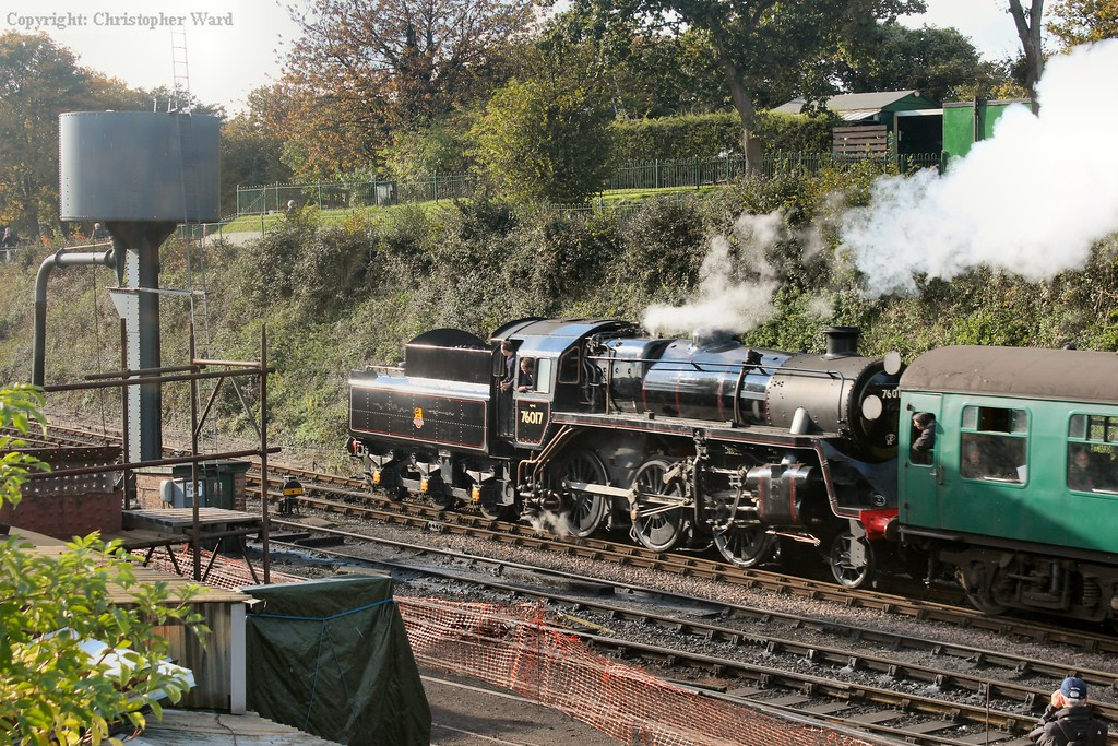 The Standard 4 mogul drifts into the station after the run from Medstead
