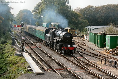 The Ivatt 4MT runs into Medstead and Four Marks