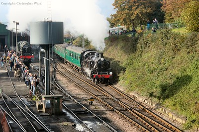 41312 pulls away past the stricken Scot