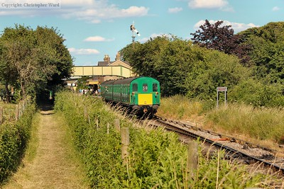 The Thumper pulls away from Ropley with an Alresford working
