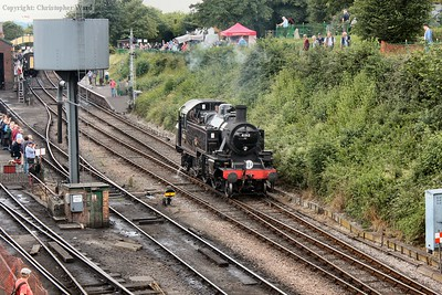 The Ivatt tank runs round the latest arrival from Alresford