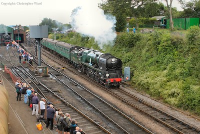 34053 prepares to do battle with the climb to Medstead
