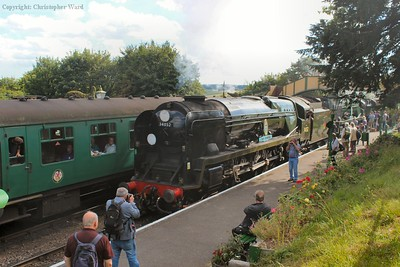 Lord Dowding at the front of the train for another double-header