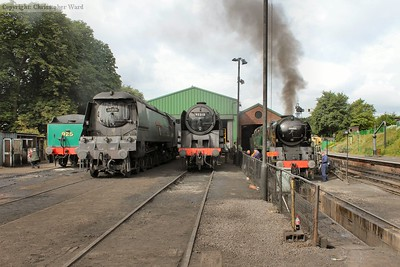 Giants of steam with the Bulleids sandwiching the 9F