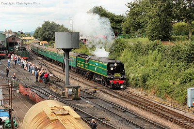 34081 pulls away with a Medstead train