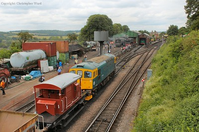 The p-way train gets the signal to move out of the yard and head for Alresford