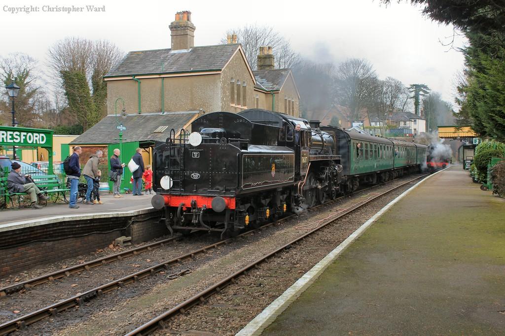 76017 arriving at Alresford