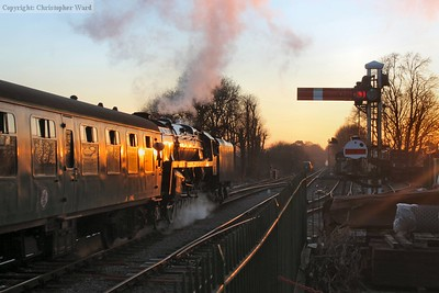 As the sun dips, 92212 heads for home