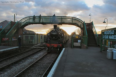 41312 framed by the footbridge