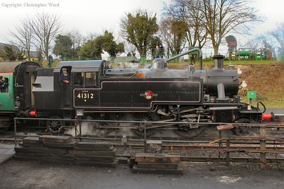 Broadside of 41312 as she waits for the off