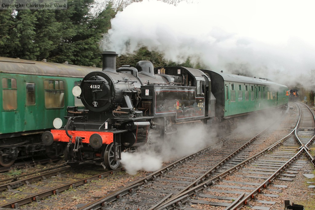 The recently restored Ivatt tank brings in the stock from the yard