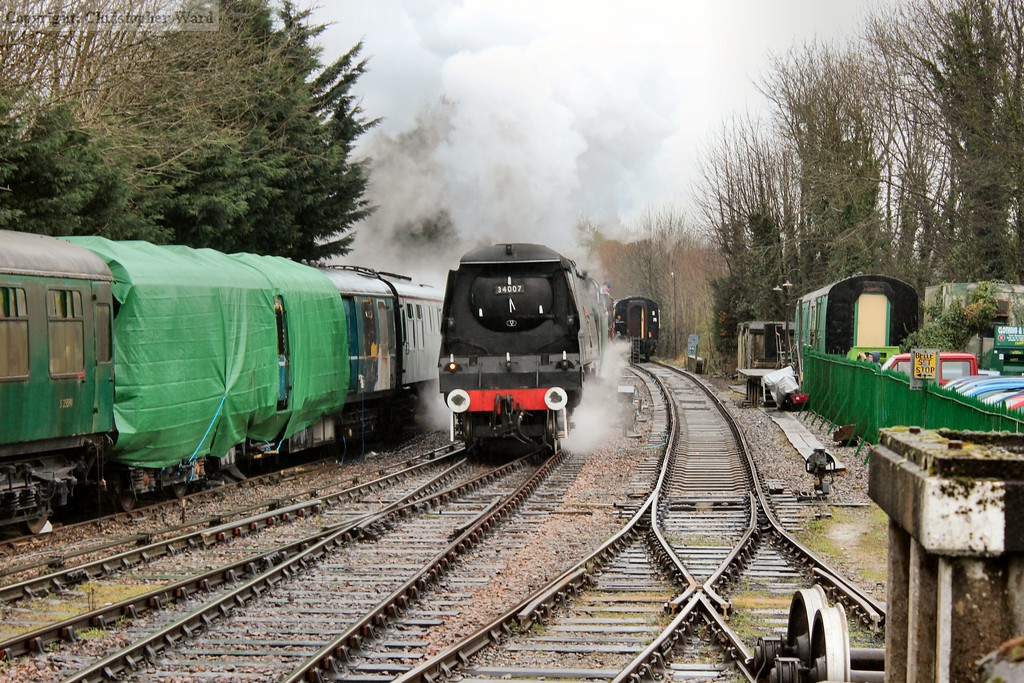 Wadebridge brings the freight out of the yard for a run up the line