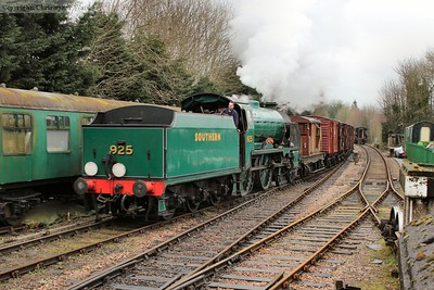 Cheltenham brings the vans out of the yard for a run to Ropley