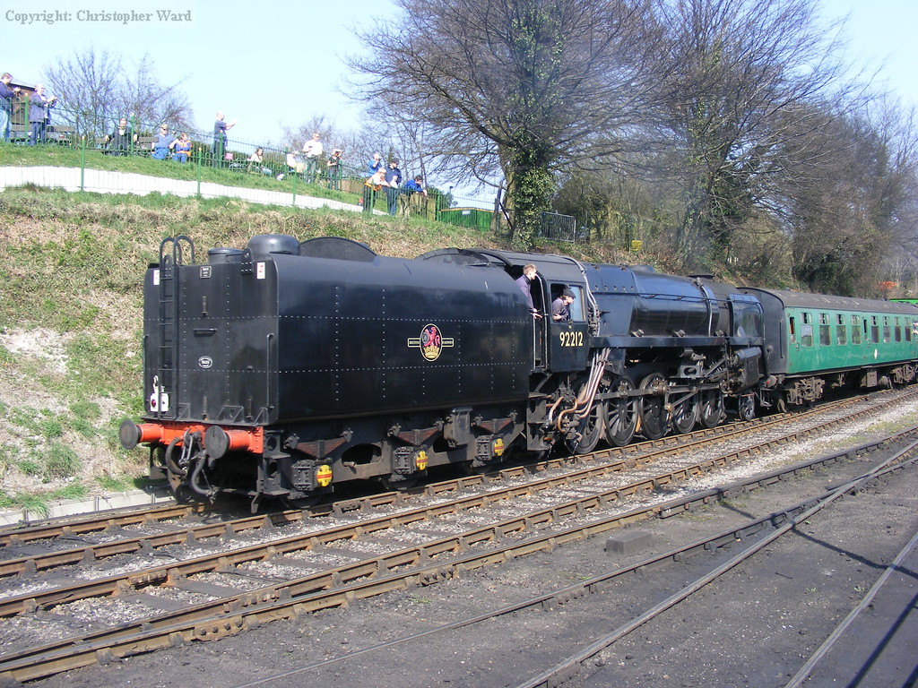 The 9F joins the efforts to keep the railway running while trains to Alton are out of action