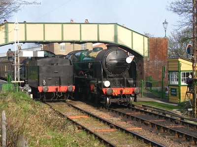 Maunsell products side-by-side at Ropley