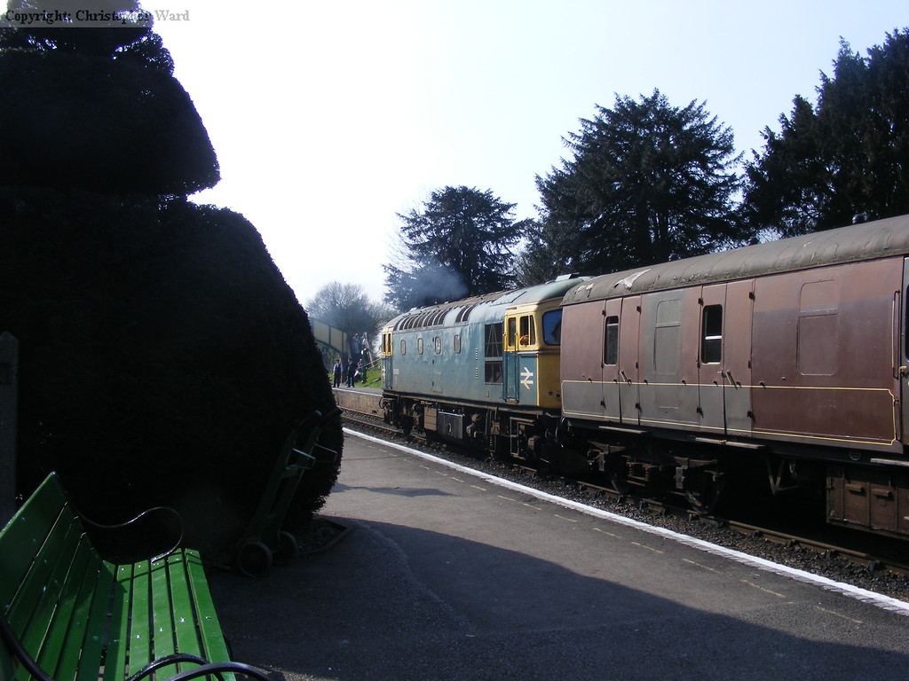The Crompton roped in to help keep the trains running by assisting Wadebridge with the RAT