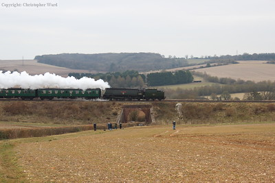 34007 passes over the bridge