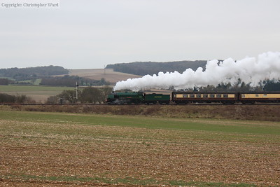 Sir Lamiel steaming through Hampshire