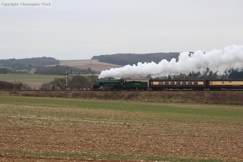 Sir Lamiel steaming through Hampshire