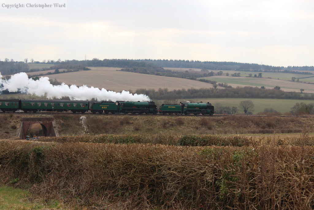 The two Southern green National Collection engines