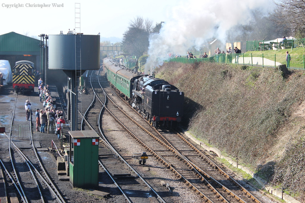 92212, making her first gala appearance at the MHR since her return from the Bluebell, pulls out of Ropley
